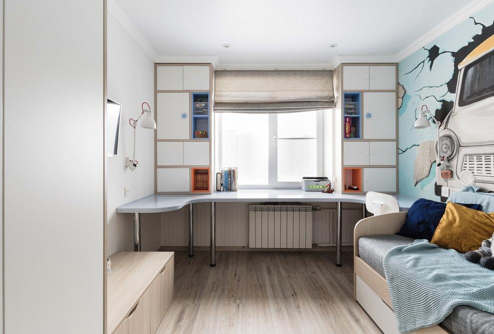 шкаф вокруг окна фото дизайн