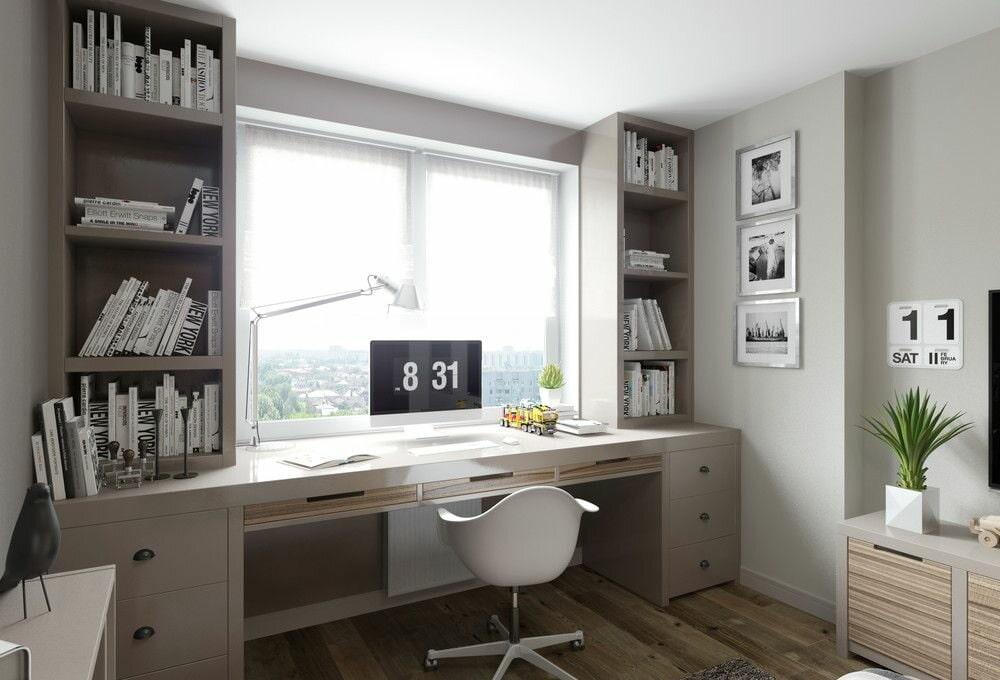 шкаф вокруг окна фото дизайна