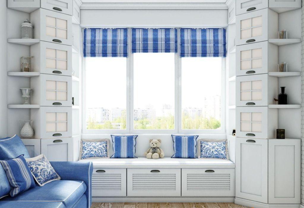 шкаф вокруг окна идеи дизайн