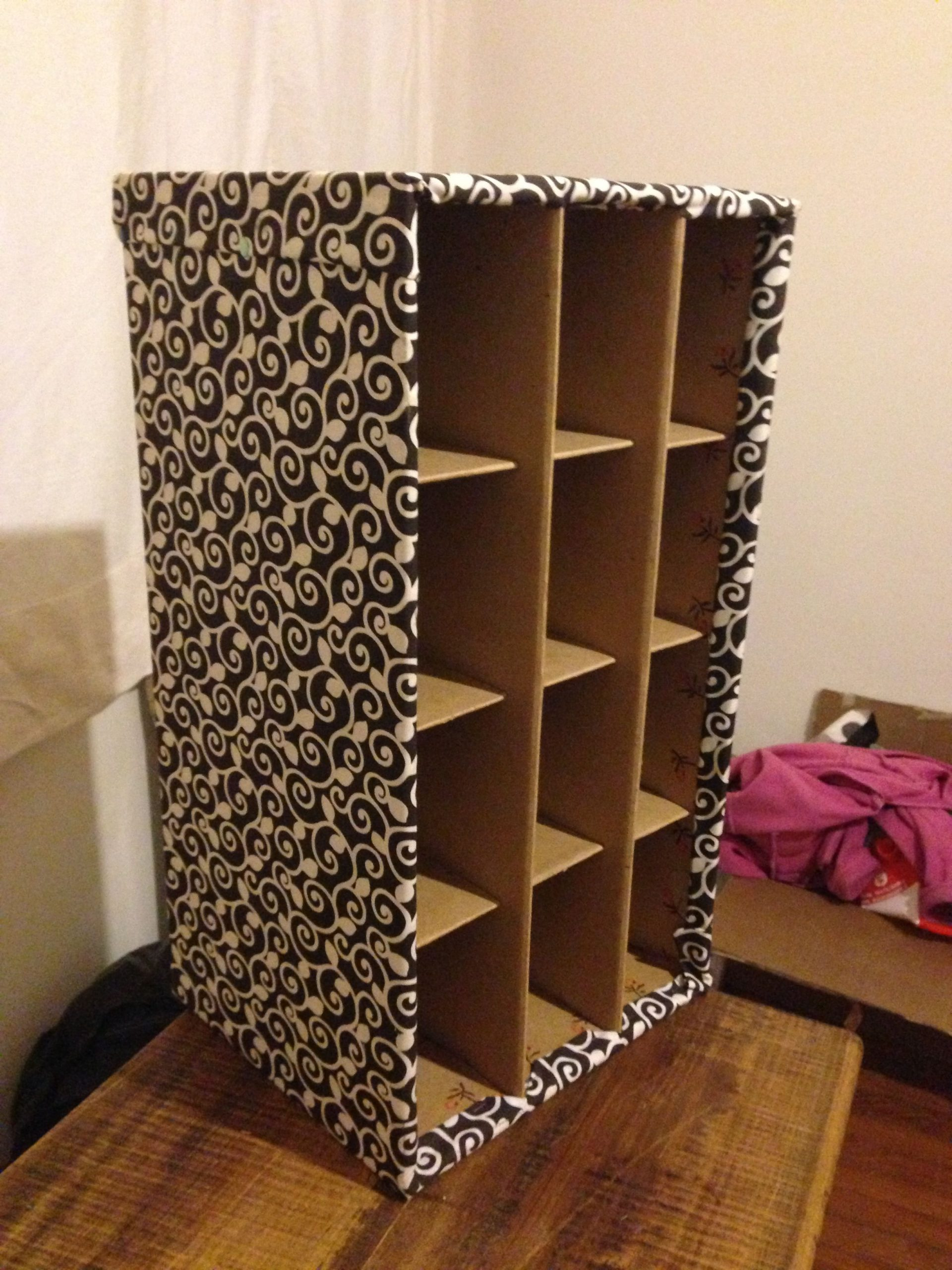 шкафчик полки из коробок