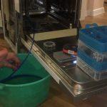 слив воды с посудомойки