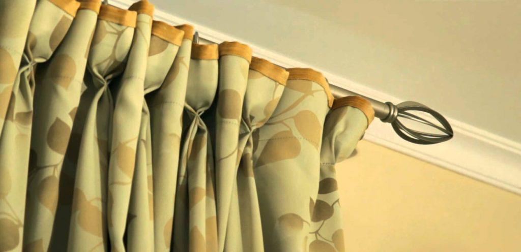 создать складки на шторах