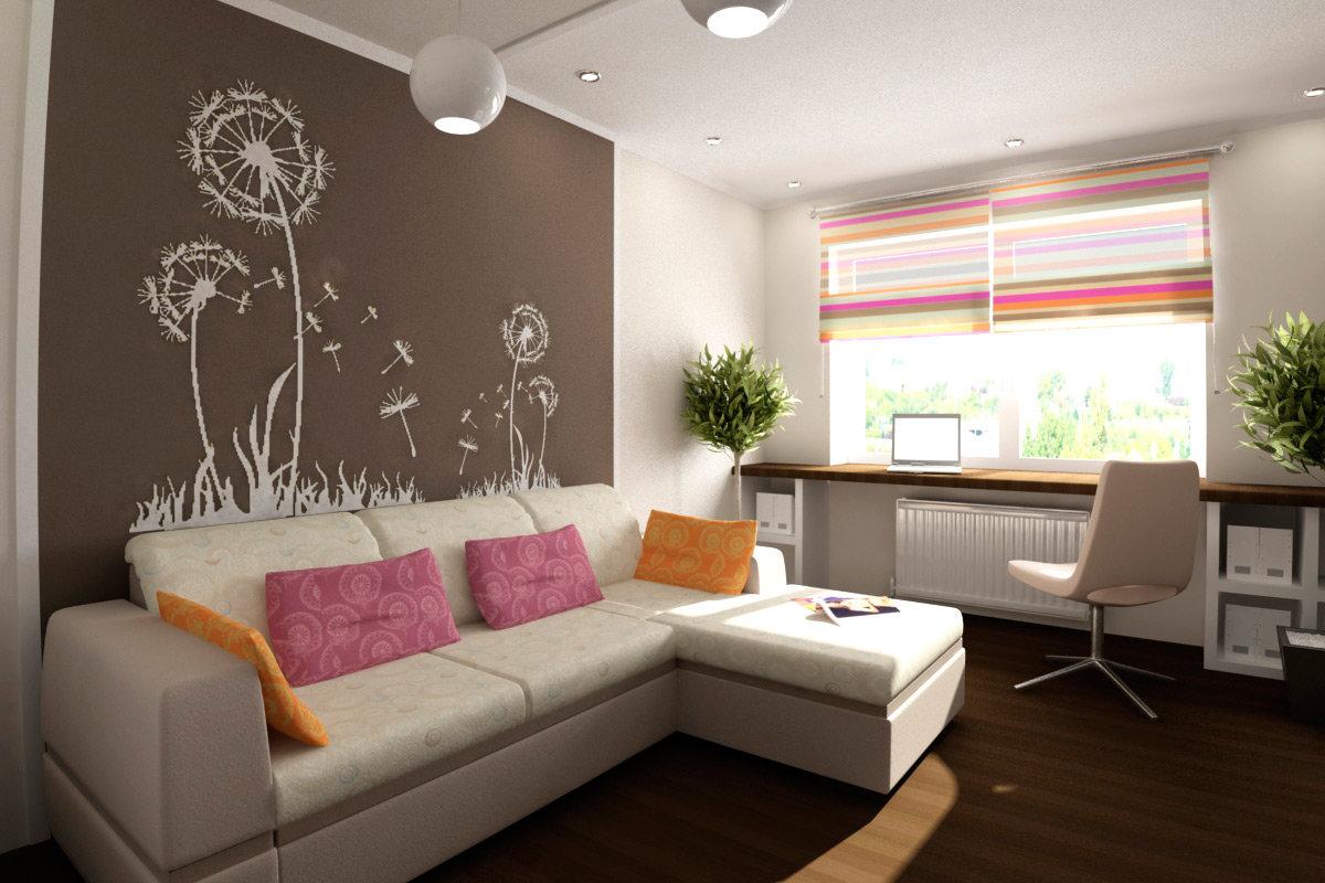 спальня 12 кв м с диваном фото