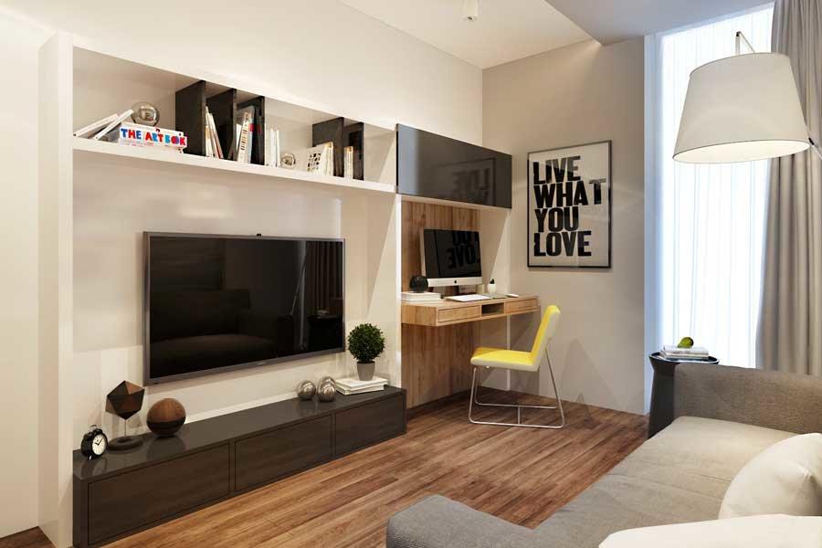спальня 12 кв м с диваном