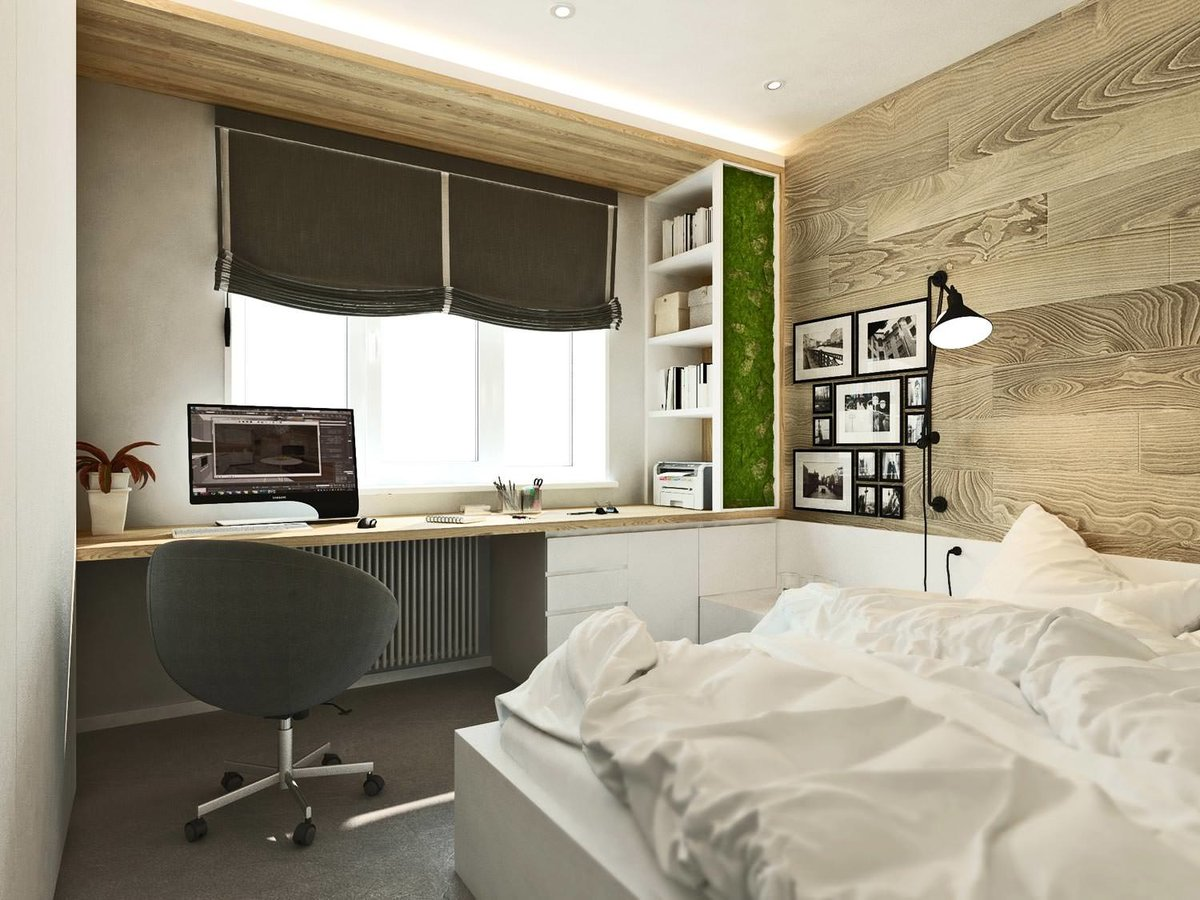спальня 12 кв м со столом