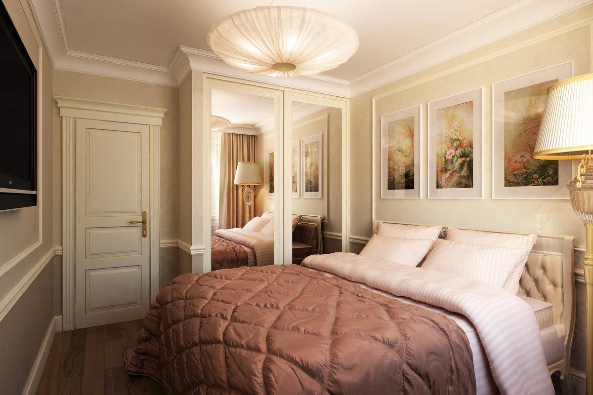 спальня 12 кв м светлая