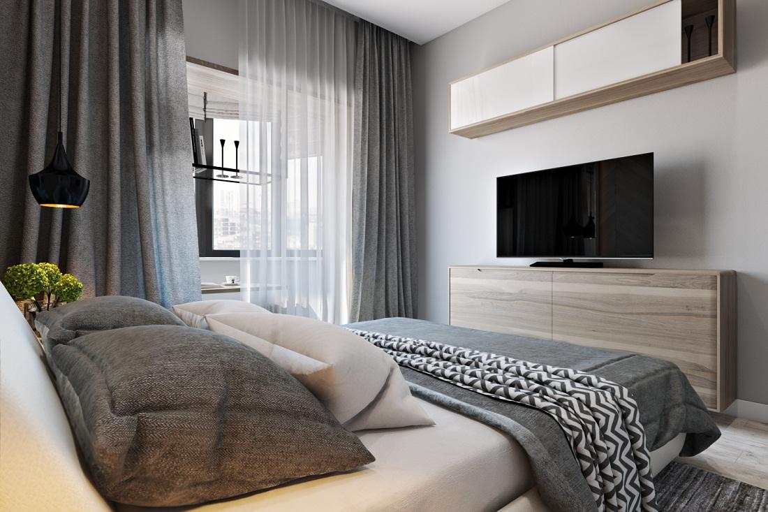 спальня 12 кв м уютная