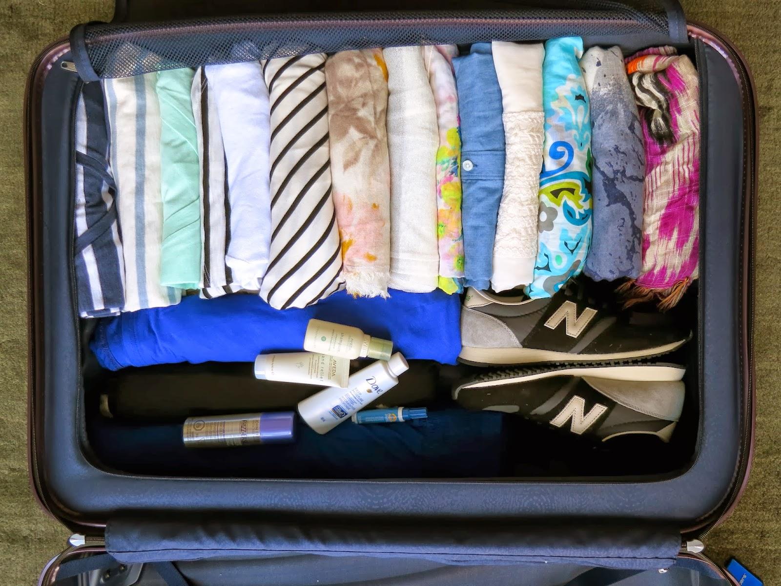 правильно уложенный чемодан