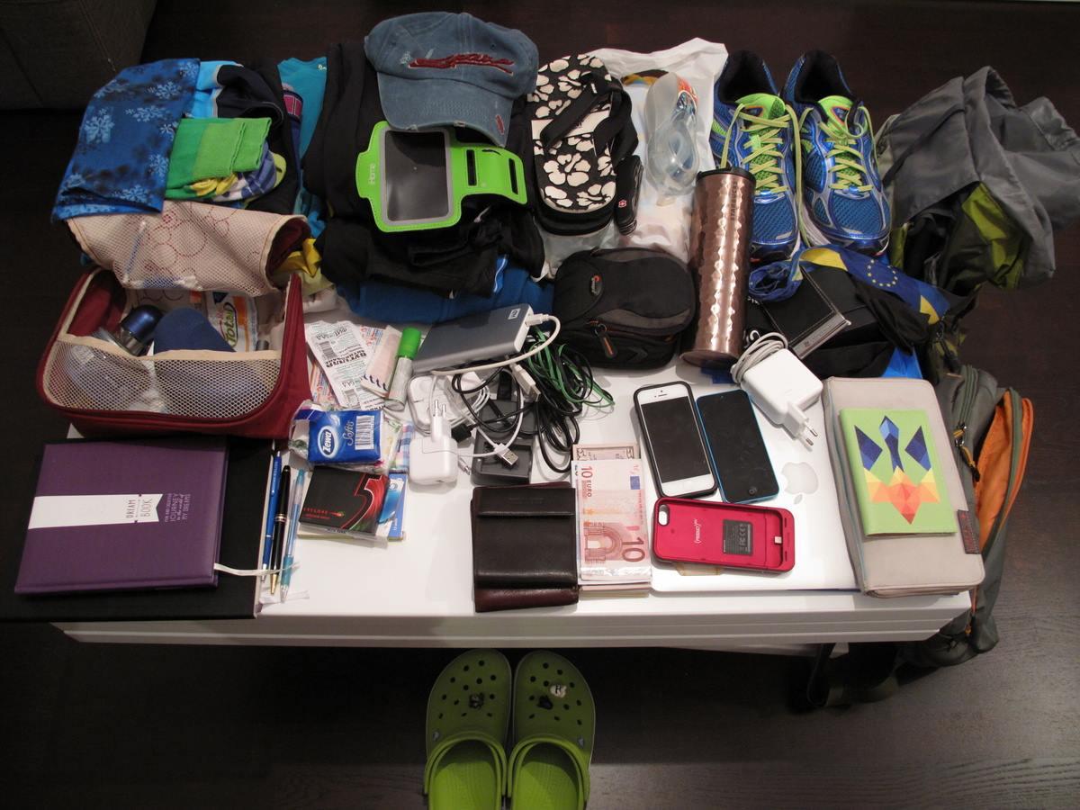 место для сувениров в чемодане