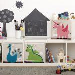 стеллаж для игрушек в детскую декор фото