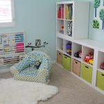 стеллаж для игрушек в детскую идеи декора
