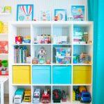 стеллаж для игрушек в детскую варианты оформления