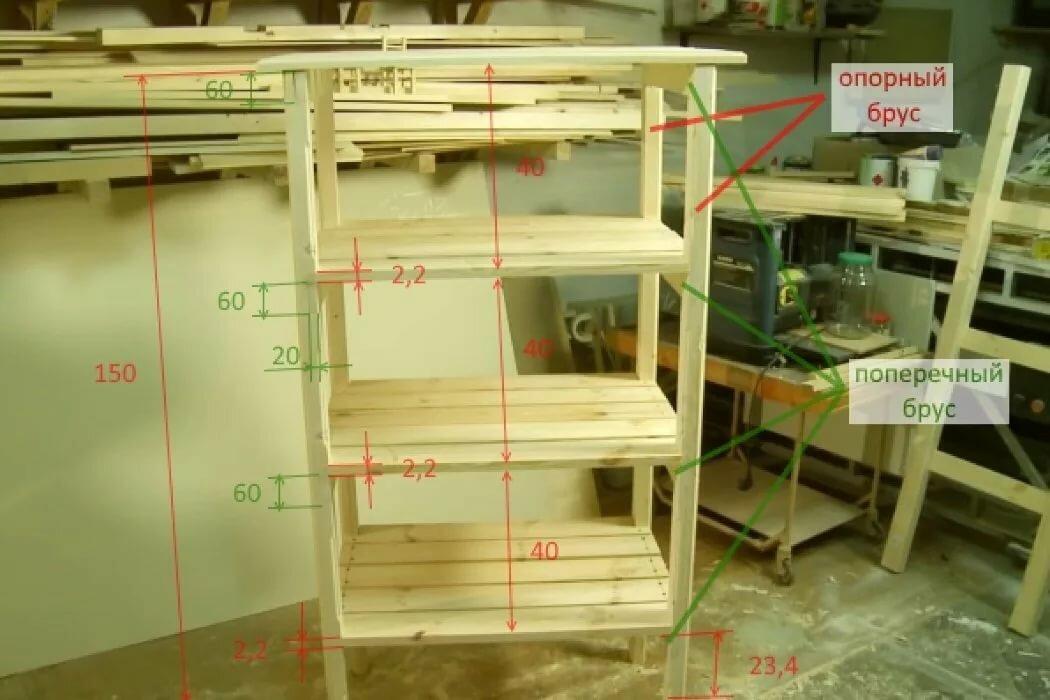 стеллаж для рассады деревянный сборка