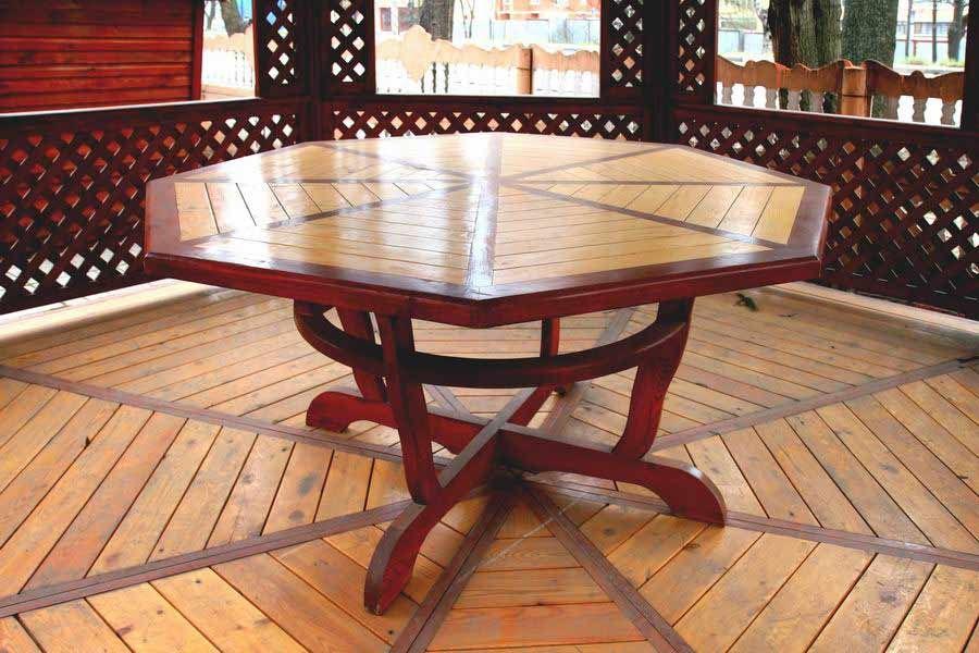 стол для беседки шестигранный