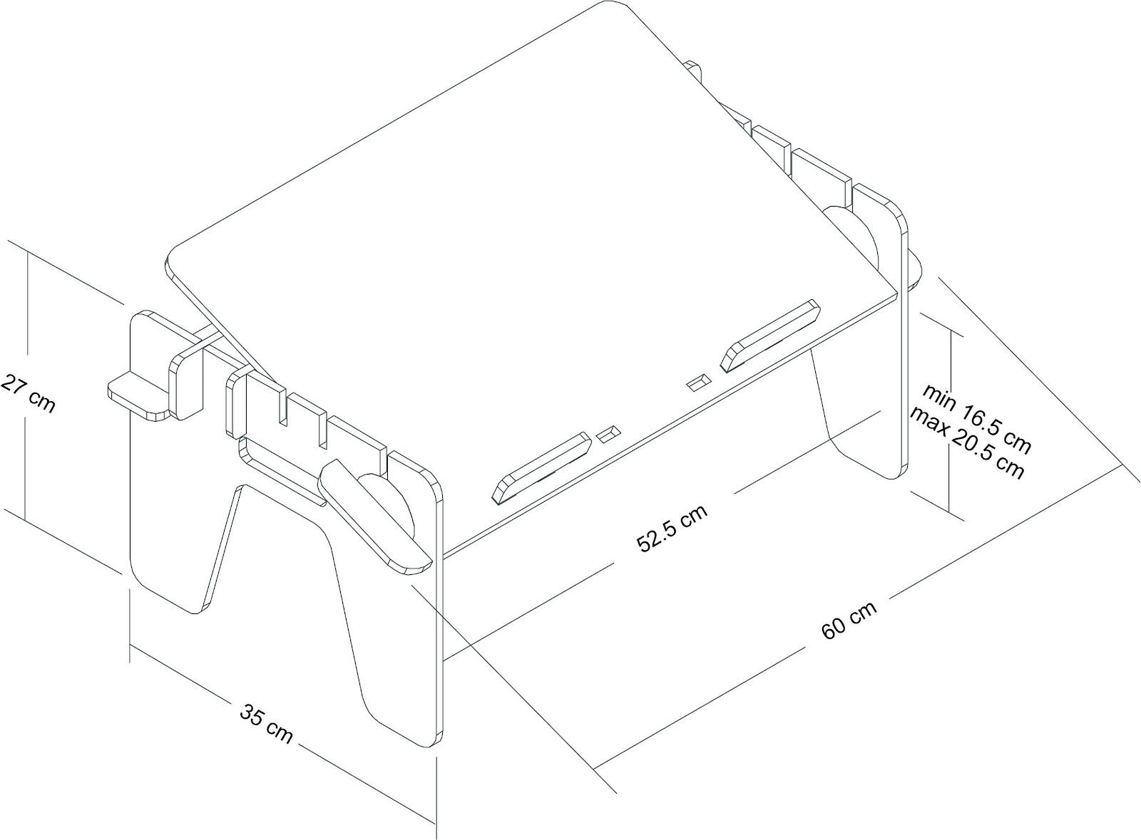 столик для ноутбука схема