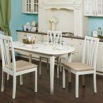 кухонный стол белый со стульями