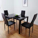 кухонный стол черный глянцевый