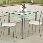 кухонный стол стклянный двойной