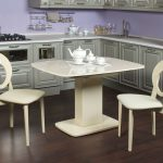 кухонный стол белый с одной ножкой