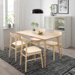 кухонный стол из светлого дерева