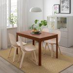 кухонный стол из темного дерева