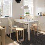 кухонный стол с круглой табуреткой