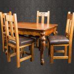 кухонный стол с мягкими стульями