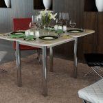 кухонный стол с приборами