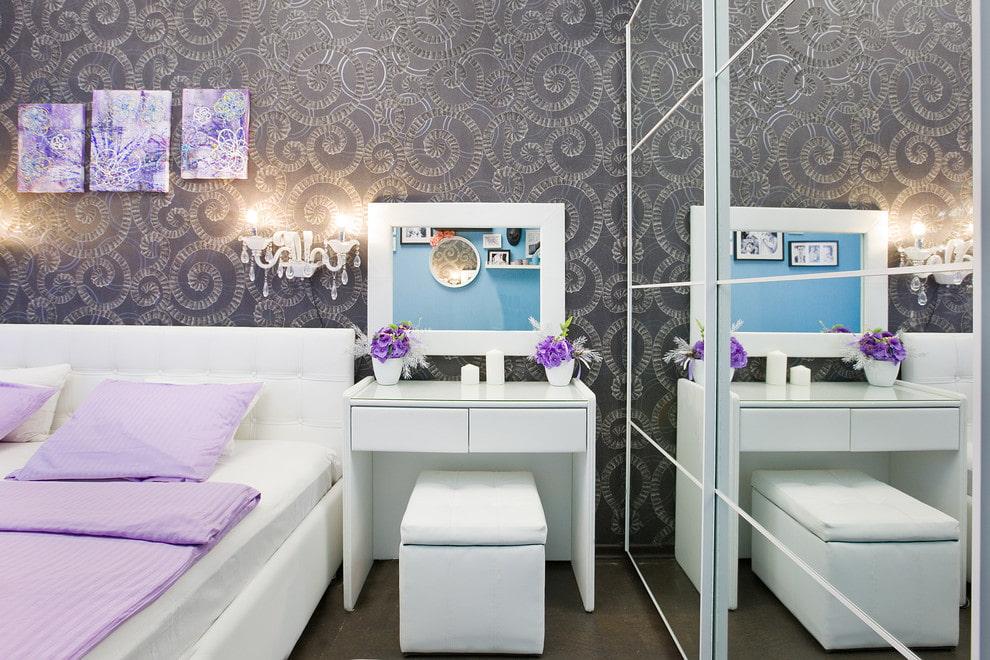 туалетный столик с зеркалом дизайн