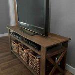 тумба под телевизор коричневая