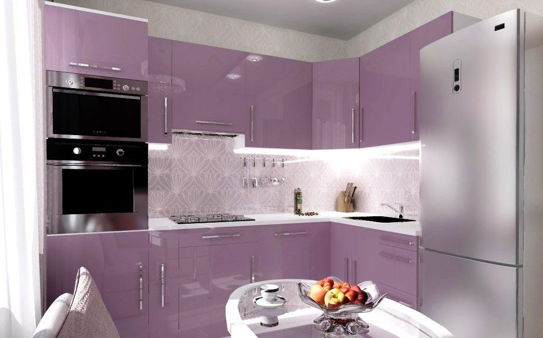 угловая кухня 9 кв м с диваном