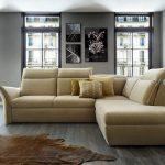 диван угловой кожаный беж