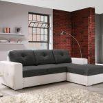диван угловой серый с белым