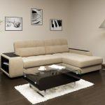 диван угловой с черно-белыми картинами