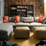 диван угловой в библиотеке