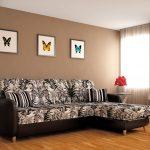 диван угловой с бабочками