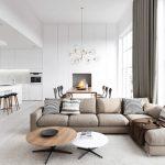 диван угловой с двумя столами