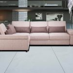 диван угловой розовый