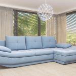 диван угловой голубой