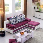 диван угловой малиновый