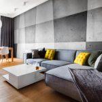 диван угловой серый с желтым