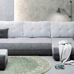 диван угловой светло серый