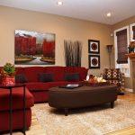 диван угловой красный