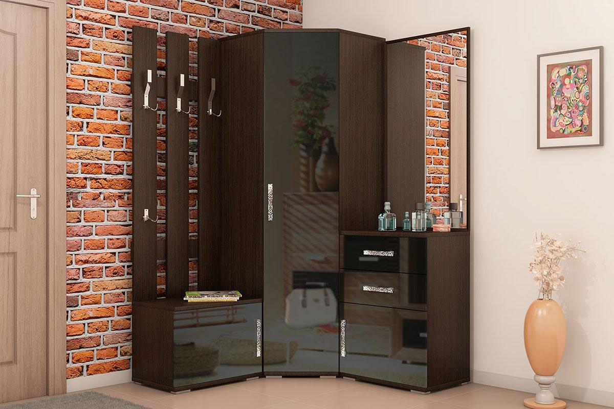 фото угловых современных шкафов в прихожую этого