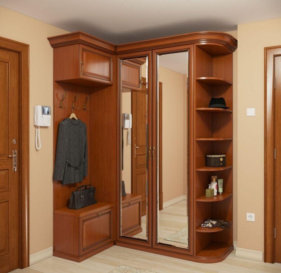 шкаф в прихожей с зеркалом