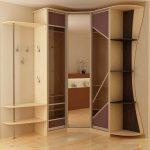 угловой шкаф в прихожей геометрический