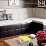 угловой диван кожаный