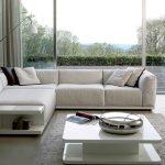 диван угловой белый