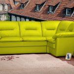 диван угловой желтый