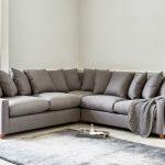 диван угловой серый